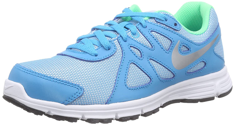 Amazon.com | Nike Kids Revolution 2 Running Shoe, Blue Lagoon/Metallic  Silver, 5Y | Running