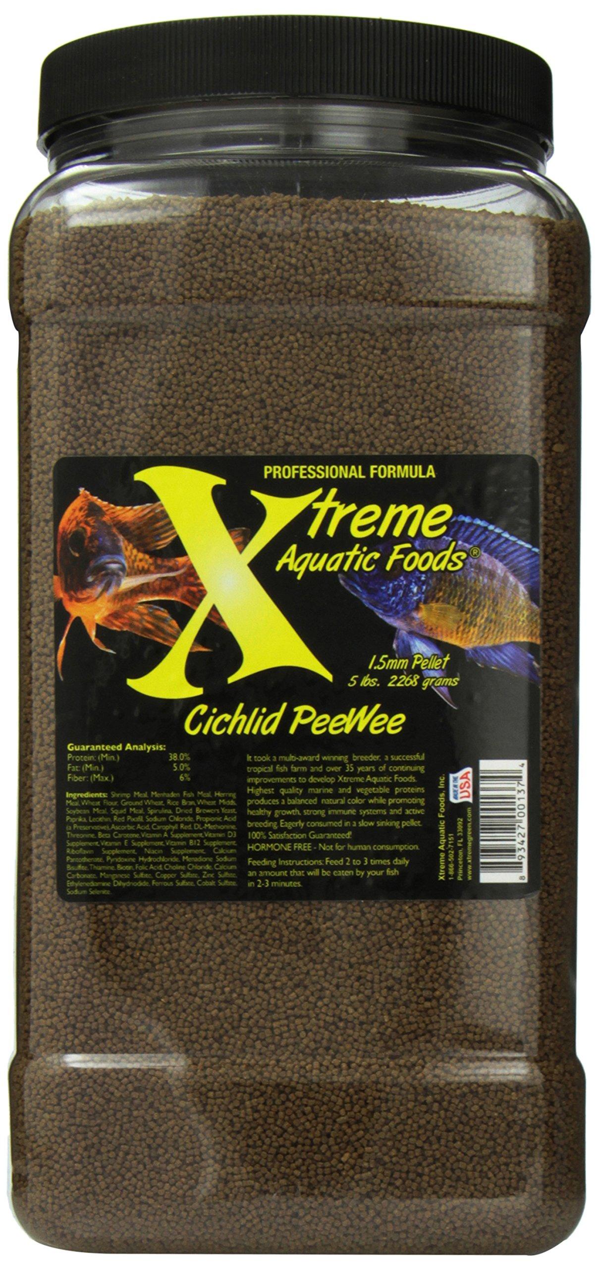 Xtreme Aquatic Foods 2137 G Cichlid Pee Wee Fish Food