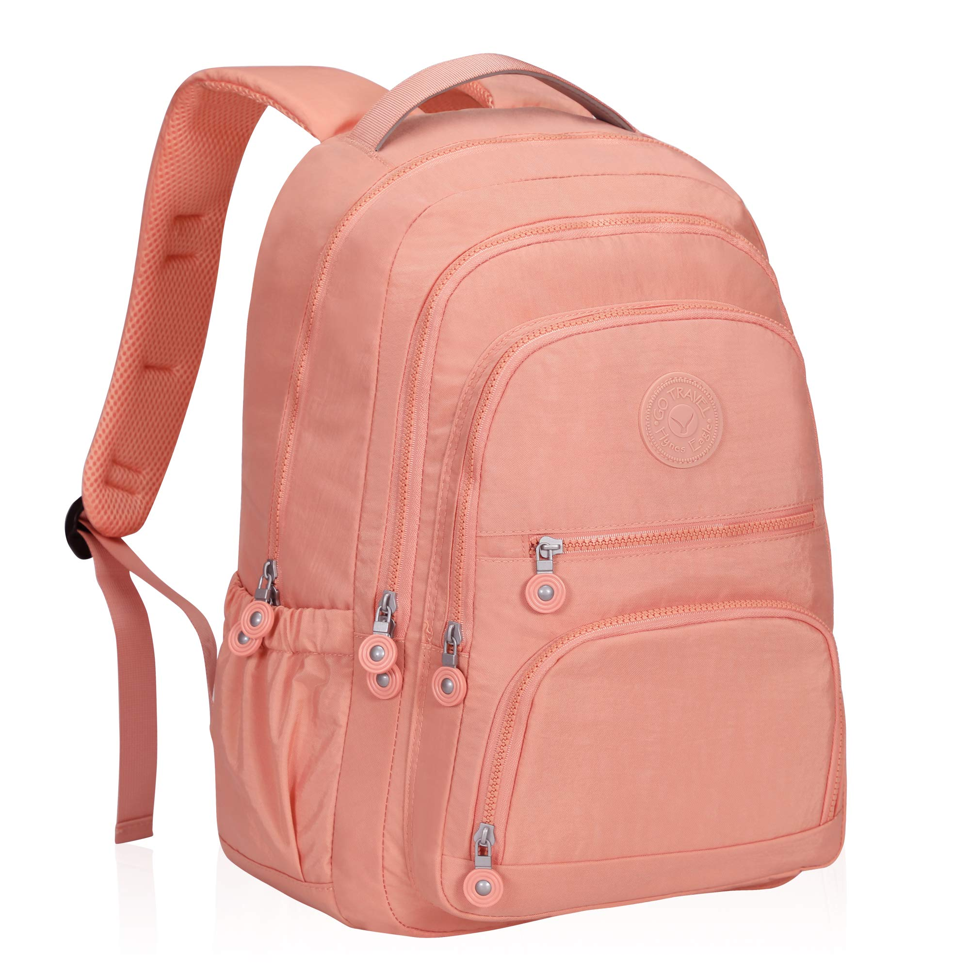 Hynes Eagle School Backpack Student Casual Daypack Laptop Backpack Fits 15.6 inches Rose Pink by Hynes Eagle
