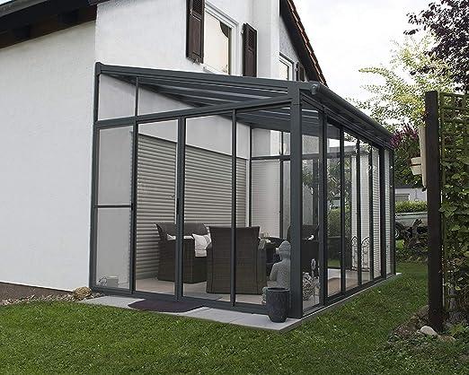 Palram Veranda San Remo para jardín de Invierno, Gris, 295 x 425 x ...