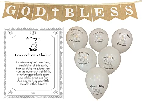 God Bless Party Decor First Communion Banner First Holy Communion 1st Communion Decor God Bless Banner First Communion