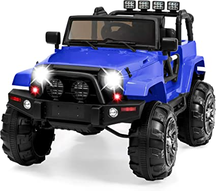 12V Electric Battery Kids Ride on Car Truck Toys LED MP3 w//Remote Control White