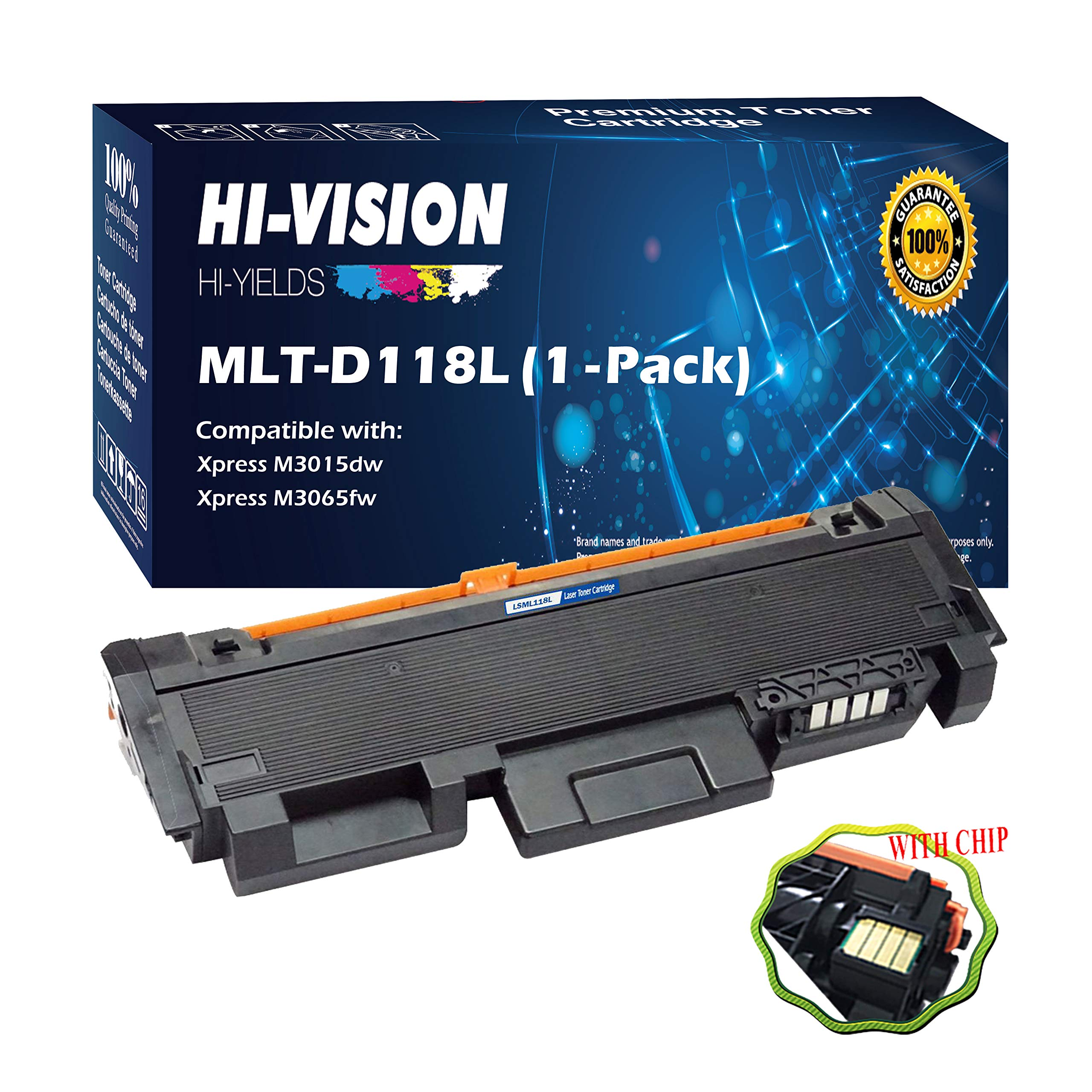 PayForLess Toner Cartridge MLT-D118L D118L D118S XAA Black 2PK Compatible for Samsung Xpress M3015DW M3065FW Printers