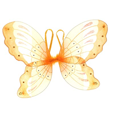 "Jewel Butterfly Fairy Wings (21"", Orange): Toys & Games [5Bkhe0705364]"