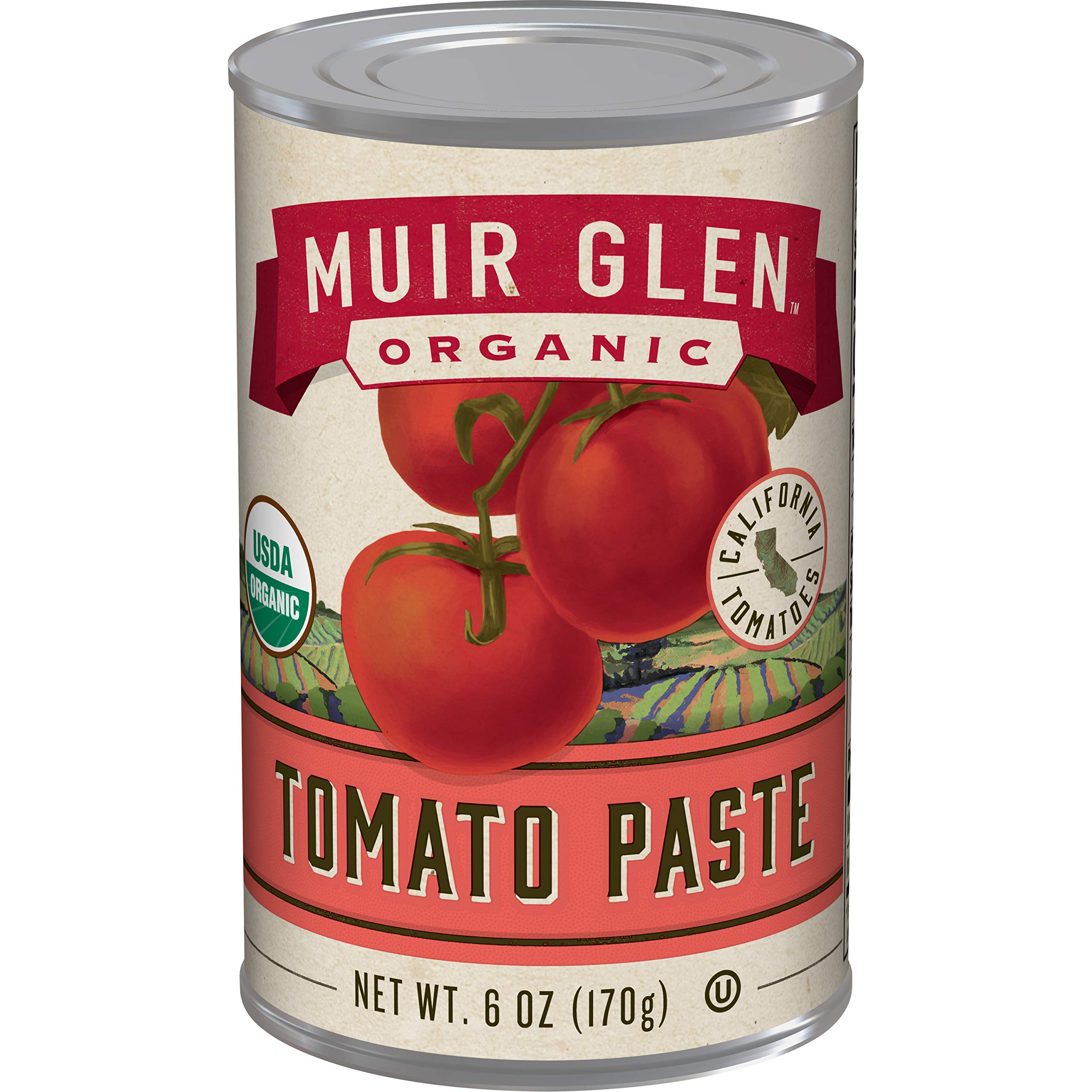Muir Glen Organic Tomato Paste, No Sugar Added, 6 Ounce Can (Pack of 24) by Muir Glen
