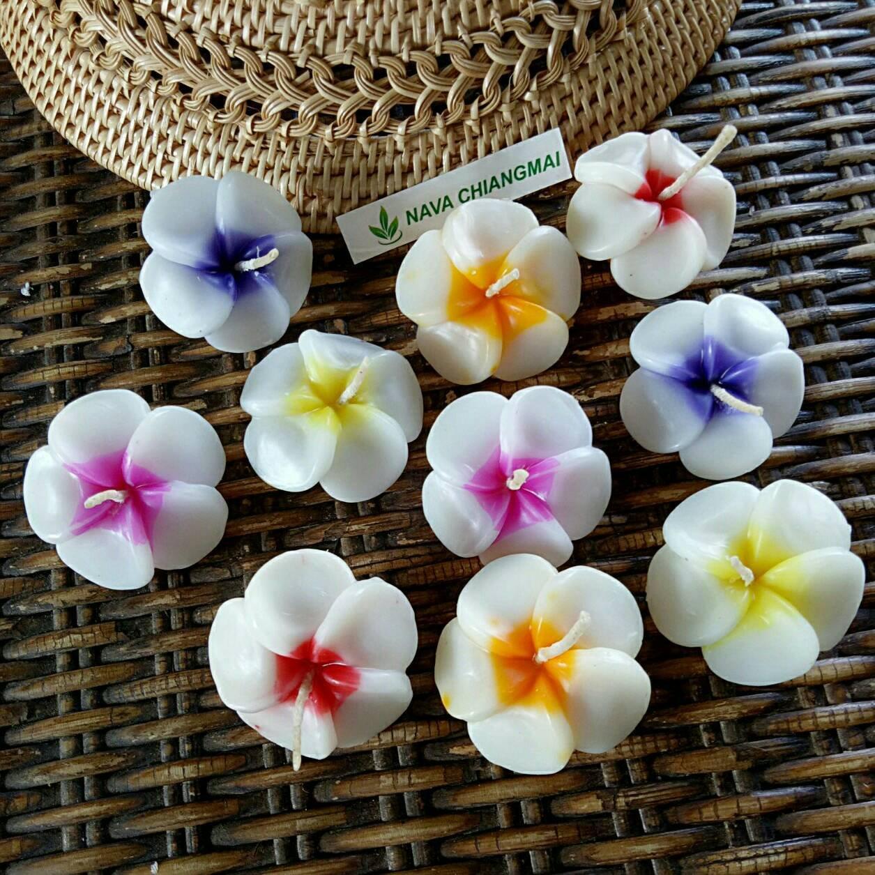 NAVA CHIANGMAI Plumeria Flower Floating Candles 10 pieces / 1 Set by NAVA CHIANGMAI (Image #3)
