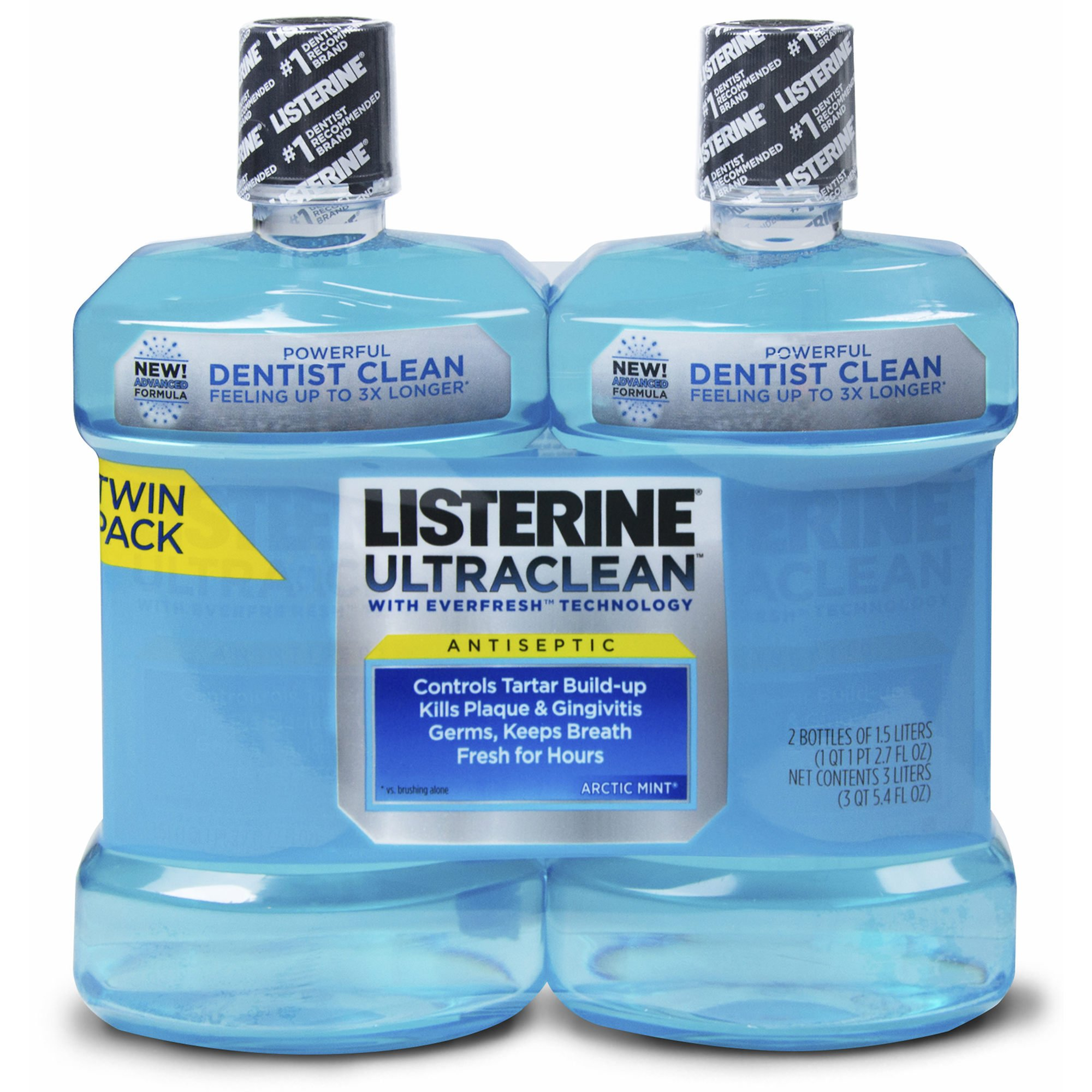 Listerine UltraClean Antiseptic Mouthwash, 2 pk./1.5L (pack of 6)