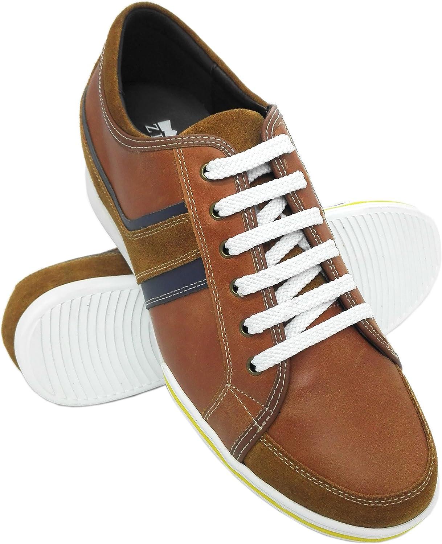 Chaussures Grandissantes Zerimar Chaussures Rehaussantes Homme |Chaussures de Sport Homme Chaussures Cuir Homme 6 cm Chaussures Cuir Veritable