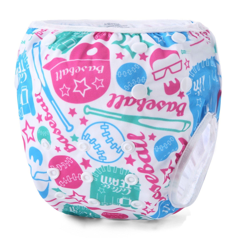Storeofbaby Reusable Baby Swim Diapers Waterproof Cover Unisex 0-3 Years 2 Pack