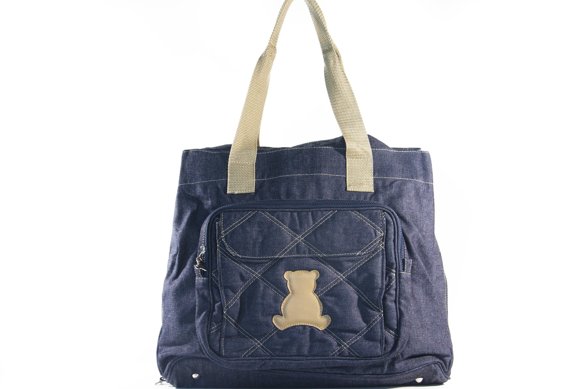 BL BABY - Elegance Collec. - LG - Shoulder Bag - 3 Themal Pockets & Mag. Clasp - Jeans - 8x16x13''