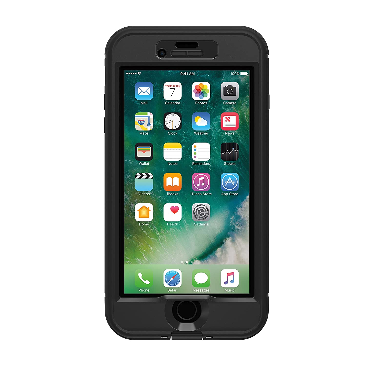 LifeProof NÜÜD SERIES Waterproof Case for iPhone 7 Plus (ONLY) - Retail Packaging - BLACK