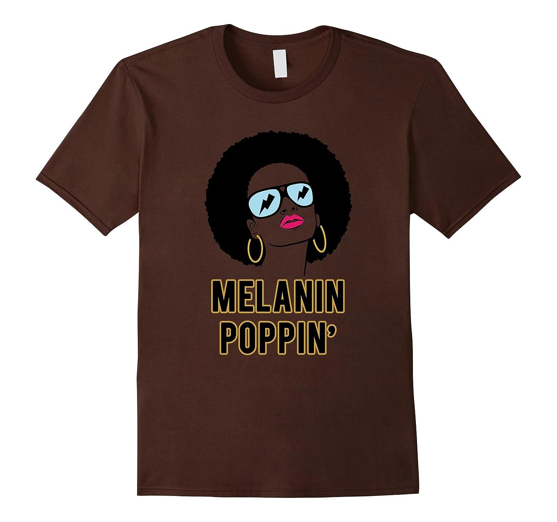 Afro Natural Hair Melanin Poppin Black Pride T Shirt-CD