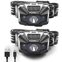 Foxelli LED Headlamp Rechargeable – Ultralight USB Rechargeable Headlamp Flashlight for Adults & Kids, Waterproof Head…
