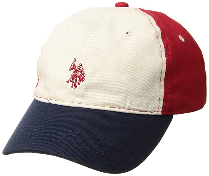 U.S. Polo Assn. Boys Big Washed Cotton Twill Baseball Cap, Adjustable, Navy