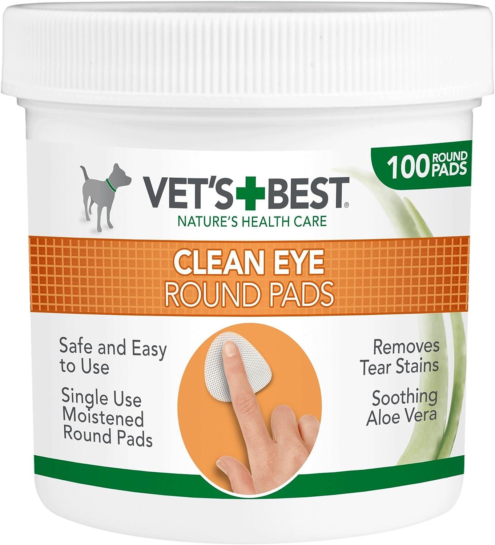 Vet's Best Almohadillas de Limpieza de Ojos Naturales para Perros 100 Unidades 140 g