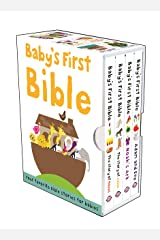 Baby's First Bible Boxed Set: The Story of Moses, The Story of Jesus, Noah's Ark, and Adam and Eve (Bible Stories) Hardcover