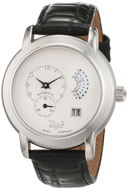 Trias Herren-Armbanduhr Analog Automatik Leder TR-T21508W