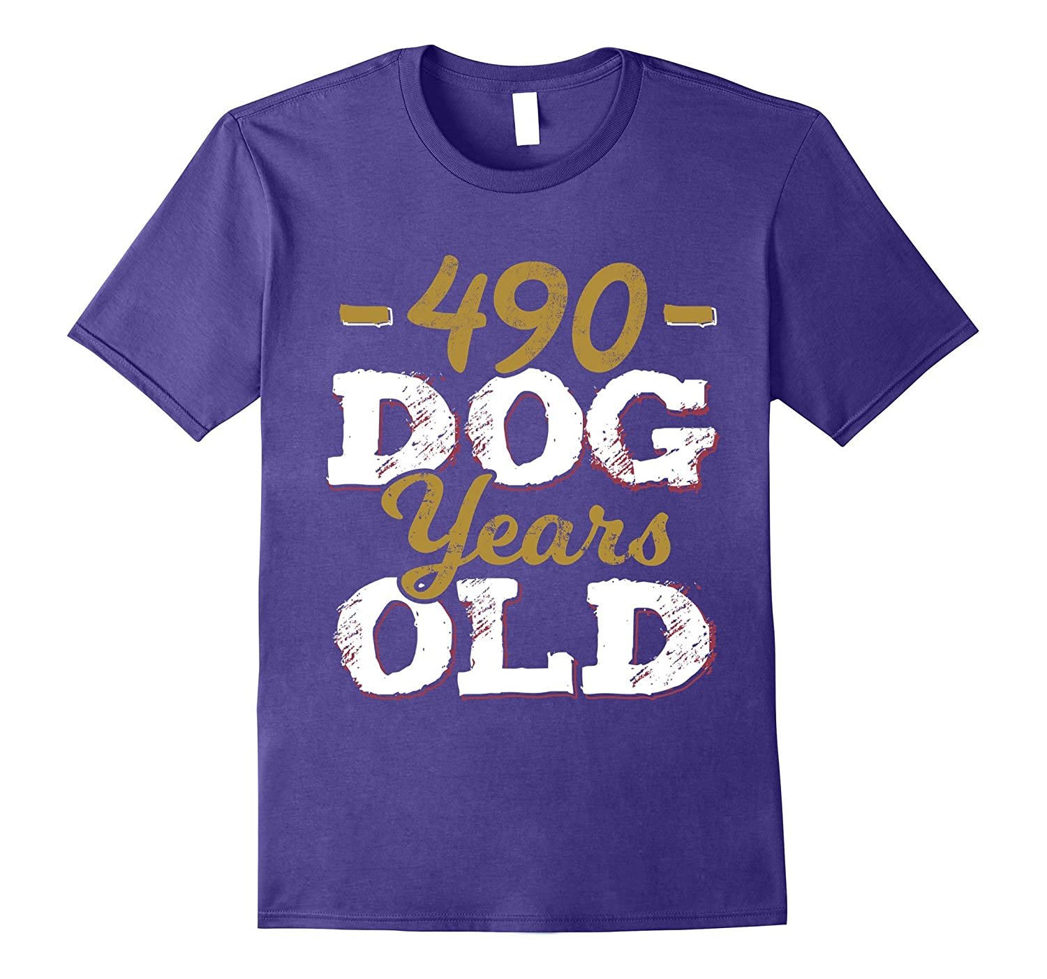 490 Dog Years Old T-Shirt Funny 70th Birthday Gag Gift-ANZ