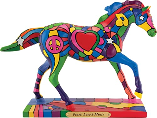 Trail of Painted Ponies Peace Love and Music Figurine, 6-1 2-Inch