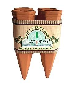 Plant Nanny 6051 4 Count Wine Bottle Stake Set