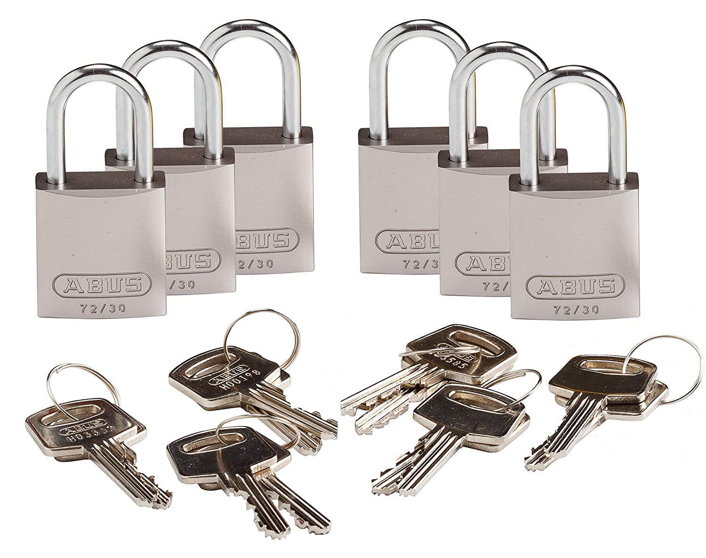 Brady 133269 llave candado, diferentes clave, aluminio (Pack de 6): Amazon.es: Amazon.es