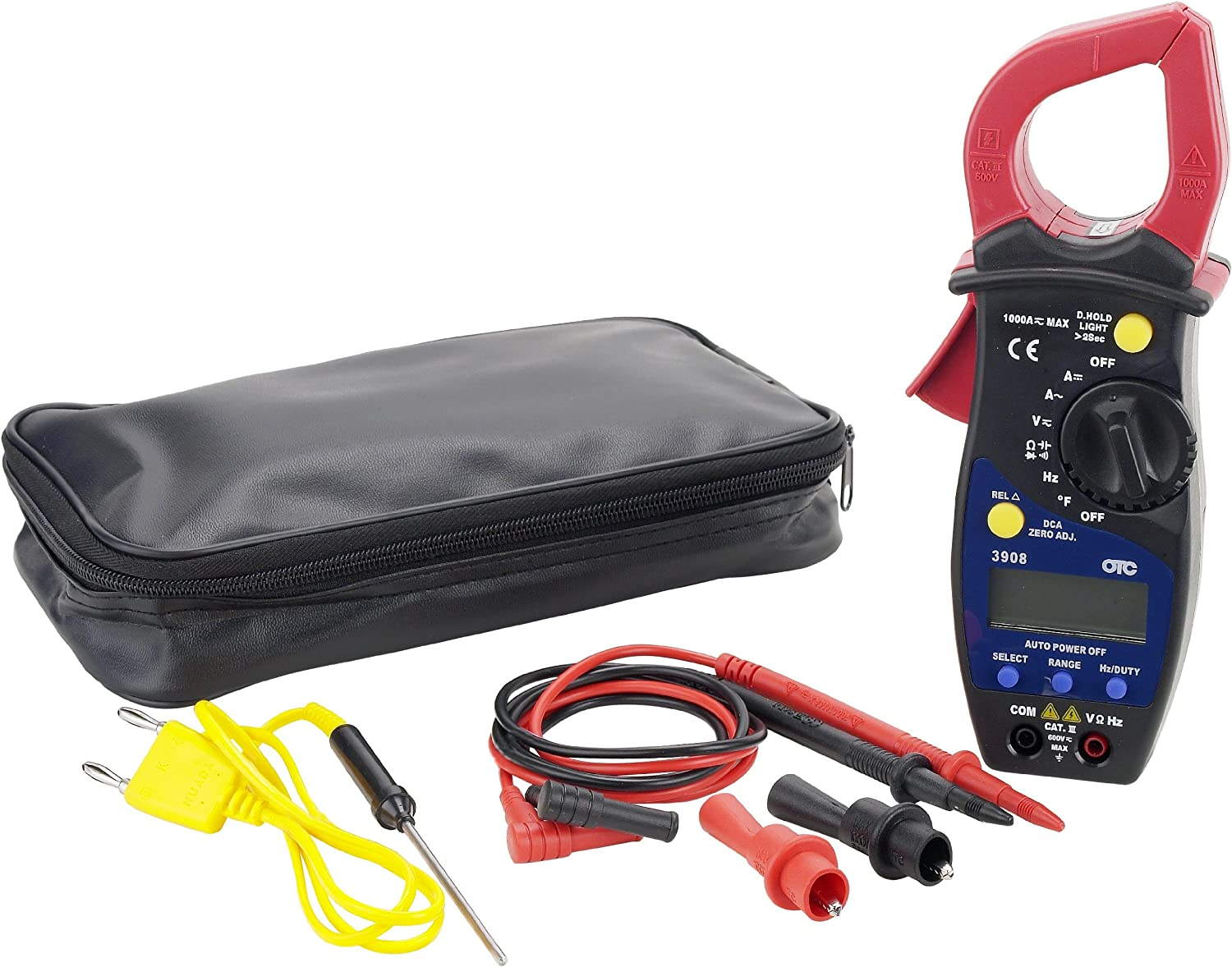 3908 Otc Clamp Meter Kit Digital Jaw 1-17//64 In