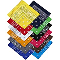 Harrys-Collection Bandana Bindetuch 100% Baumwolle (1 er 6 er oder 12 er Pack)
