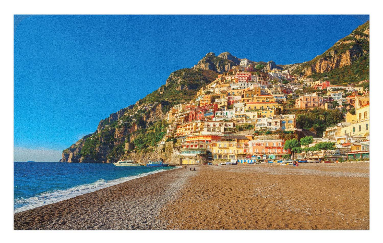 Amazon Com Lunarable Amalfi Coast Doormat South Italy