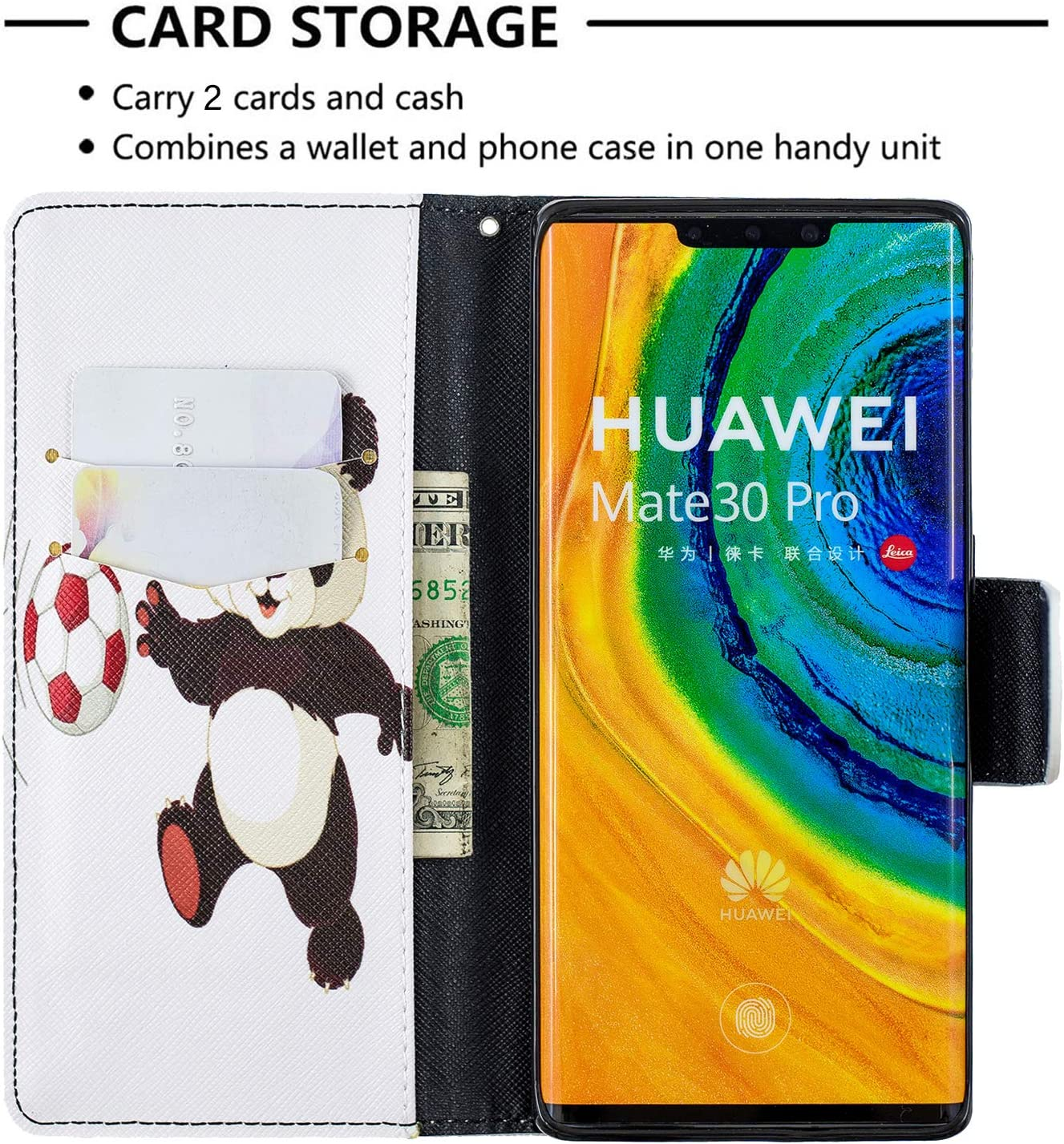 Huawei Mate 30 Pro with Stand Feature Card Holder Magnetic Closure LOBFE090336 L6 Shockproof Flip Case Cover for Huawei Mate30 Pro Lomogo Leather Wallet Case for