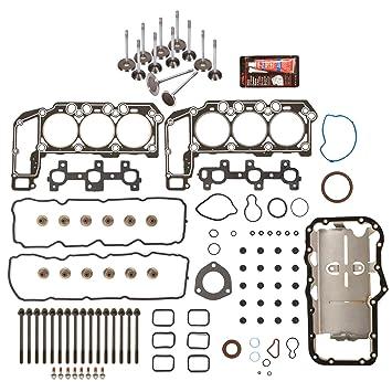 05-12 3.7L Dodge Dakota Durango Jeep Grand Cherokee Head Gasket Set+HEAD Bolts