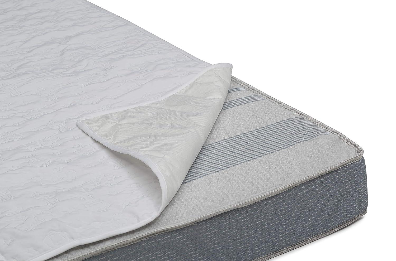 Serta Sertapedic Crib Mattress Liner Pads (Pack of 2)| Extra Protection for Baby's Crib with Nanotex Technology| 100% Waterproof, White