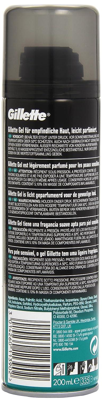 Gillette Piel Sensible Gel De Afeitado para Hombre - 200 ml