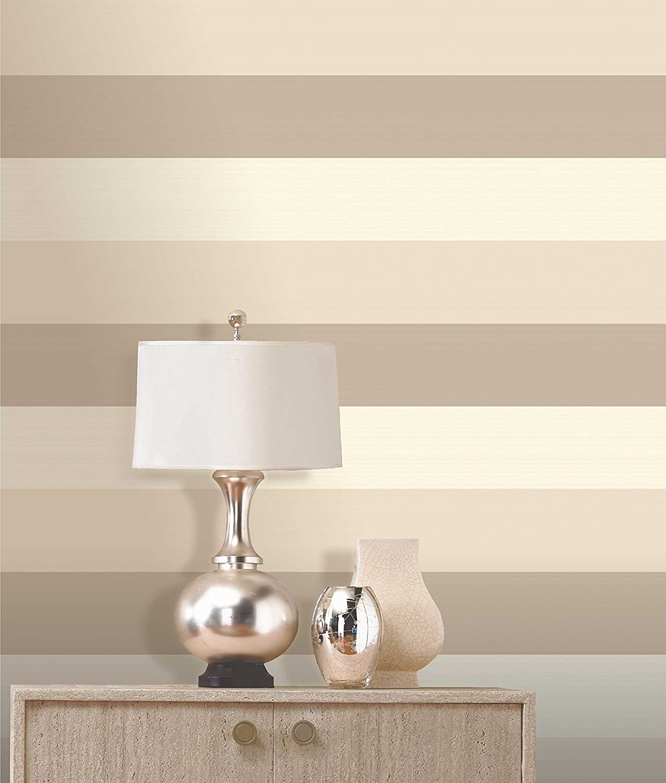 Striped kitchen wallpaper oyster artisan stripe wallpaper for Cream wallpaper for walls