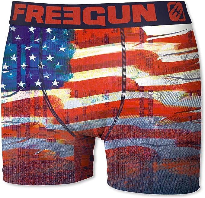 FREEGUN Bóxer para Hombre Bandera de los Estados Unidos de América (L): Amazon.es: Ropa y accesorios