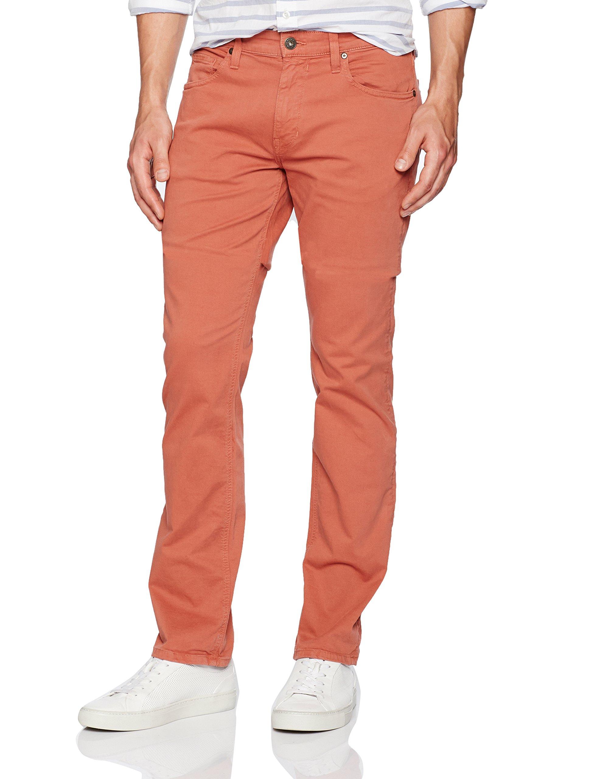 PAIGE Men's Normandie Slim Straight Pants, Ginger Root, 36
