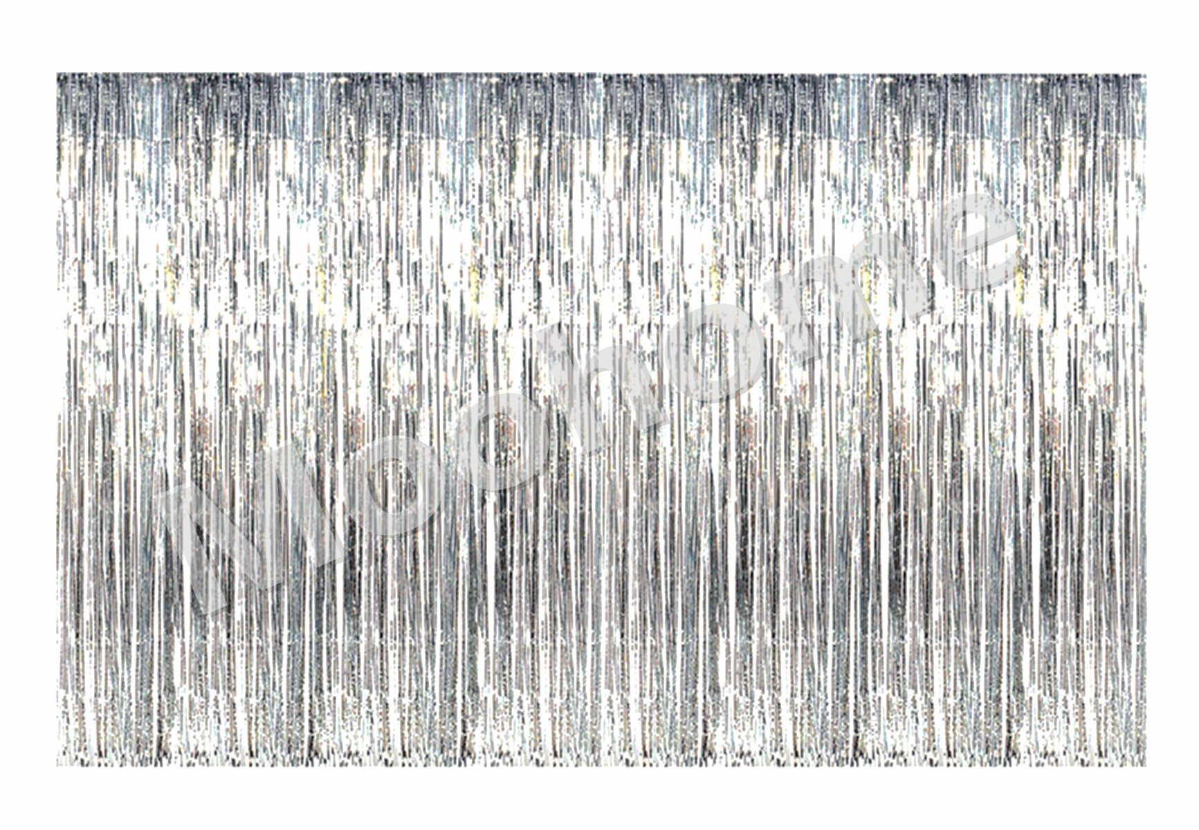 Moohome Big 12ft x 8ft Tinsel Silver Foil Fringe Curtains Backdrop Door Window Curtain Party Photography Decoration (12' x 8', Silver)