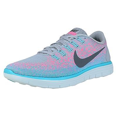 best sneakers 9dec3 1bd0a Amazon.com   Nike Womens Free Rn Distance Wolf Grey Dark Grey Pink Blast Running  Shoe 5 US   Road Running