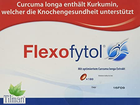 Flexofytol Bio-optimized Turmeric Extract for Joints and Arthritis – 180 Gel-Caps