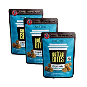 MADE GOOD Alternative - FRENCH VANILLA - Granola Bites Organic Chewy Coffee Granola Bars Vegan Made with Healthy, Crispy, Allergy Free Snacks Best for School and Office Lunches (3 Bags, 2.4 Oz. Each) by Pure Food by Estee