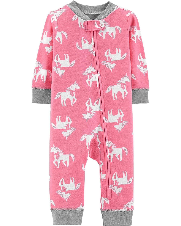 Carters Baby Girls Snug Fit Cotton Footless PJs