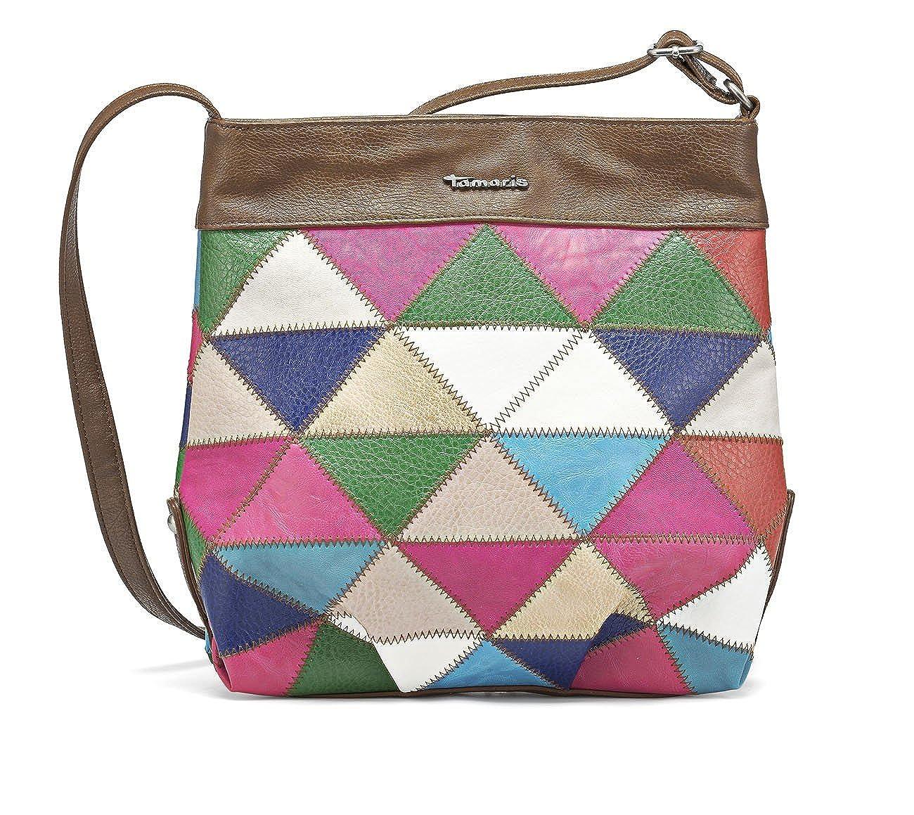 TAMARIS Handtasche, Umhängetasche, Patchwork Look, 3 Farben