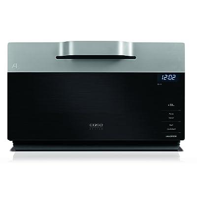 Caso img25Design micro-ondes avec grill et Inverter Technologie argent/noir