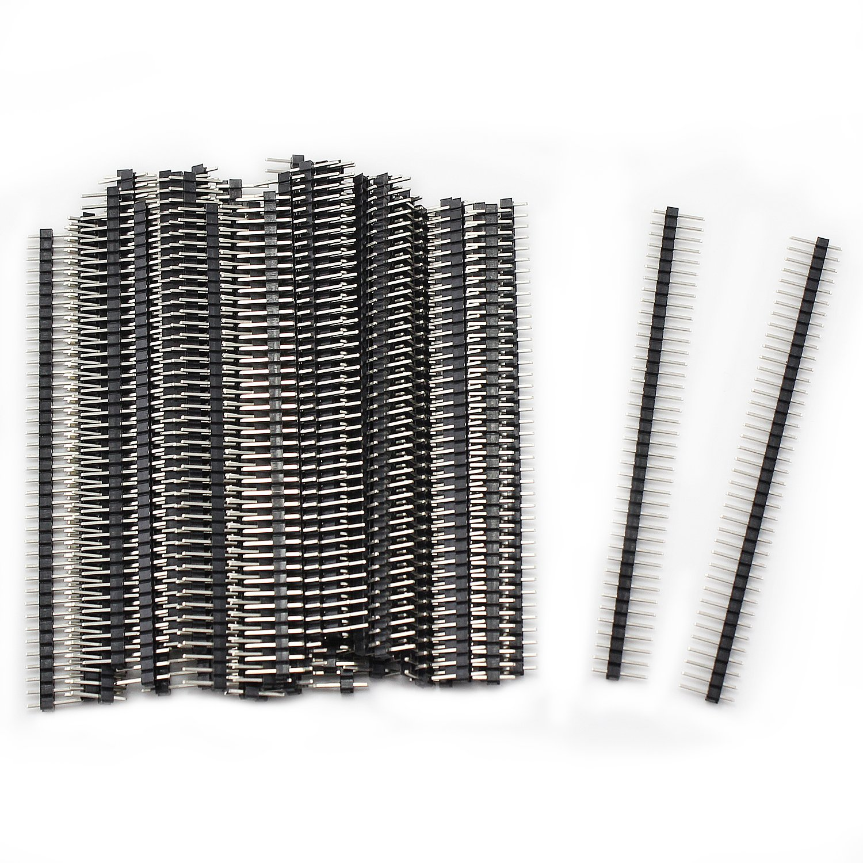 Aussel 20 Pi/èces 2,54 mm Breakaway PCB Board 40pin m/âle et femelle en-t/ête Connecteur pour blindage Arduino