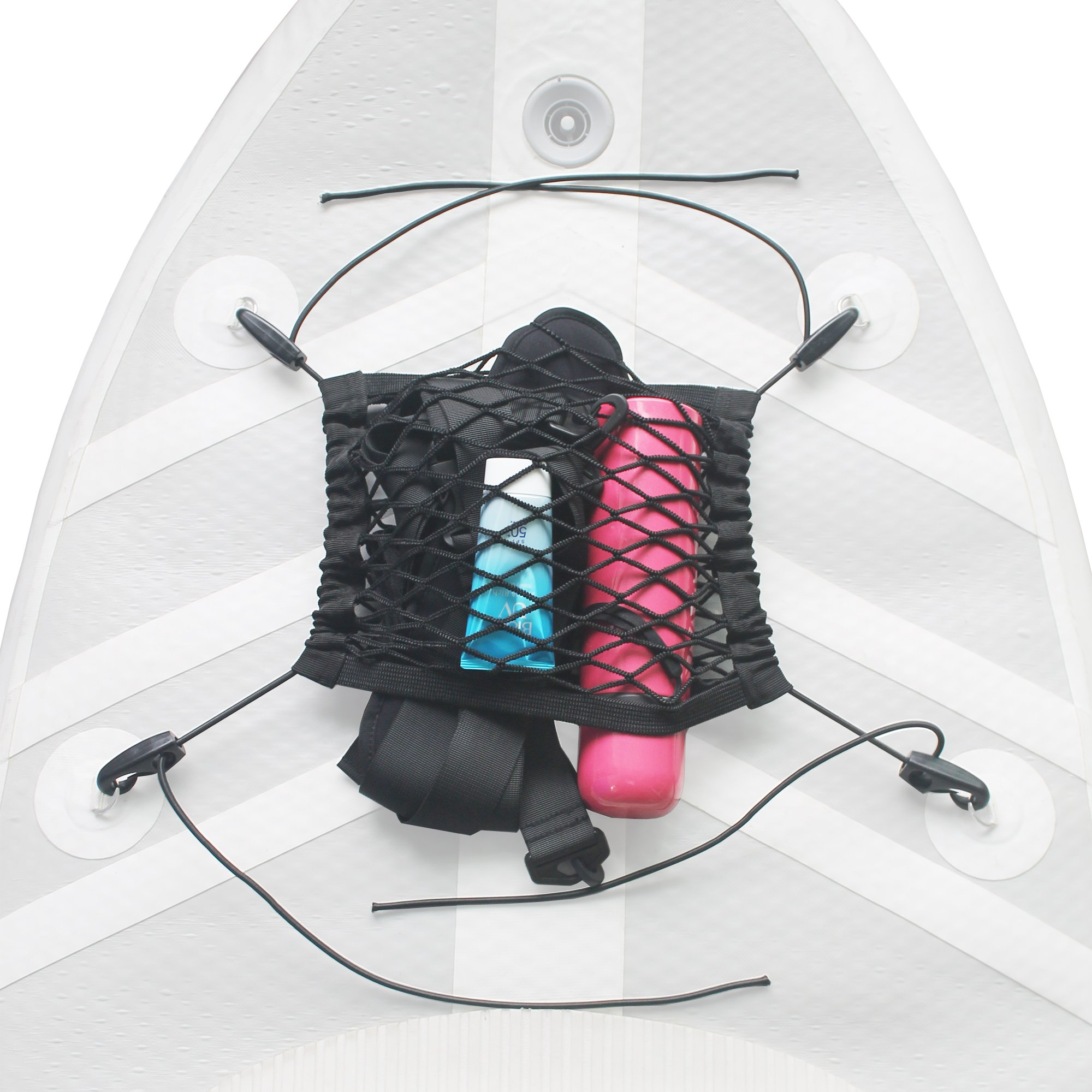 YYST SUP Mesh Deck Bag Deck Storage Bag SUP Storage Back Stand Up Paddle Board Pouch Bag Pocket for SUP Paddleboard Deck-no D Ring Patch