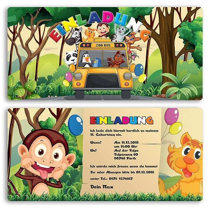 Invitaciones Cumpleaños Zoo Animales Niños Niño Niña ...