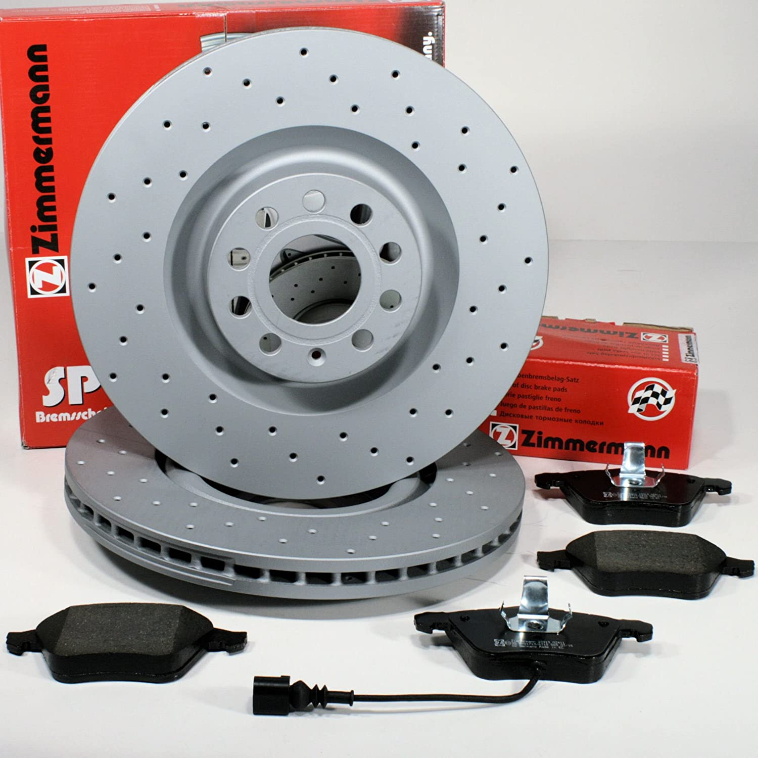 Zimmermann Sport Brake Discs Seat Leon (1P) – 1lb Coat Z Perforated with Brake Front Cable Alarm, Front Axle Autoparts-Online