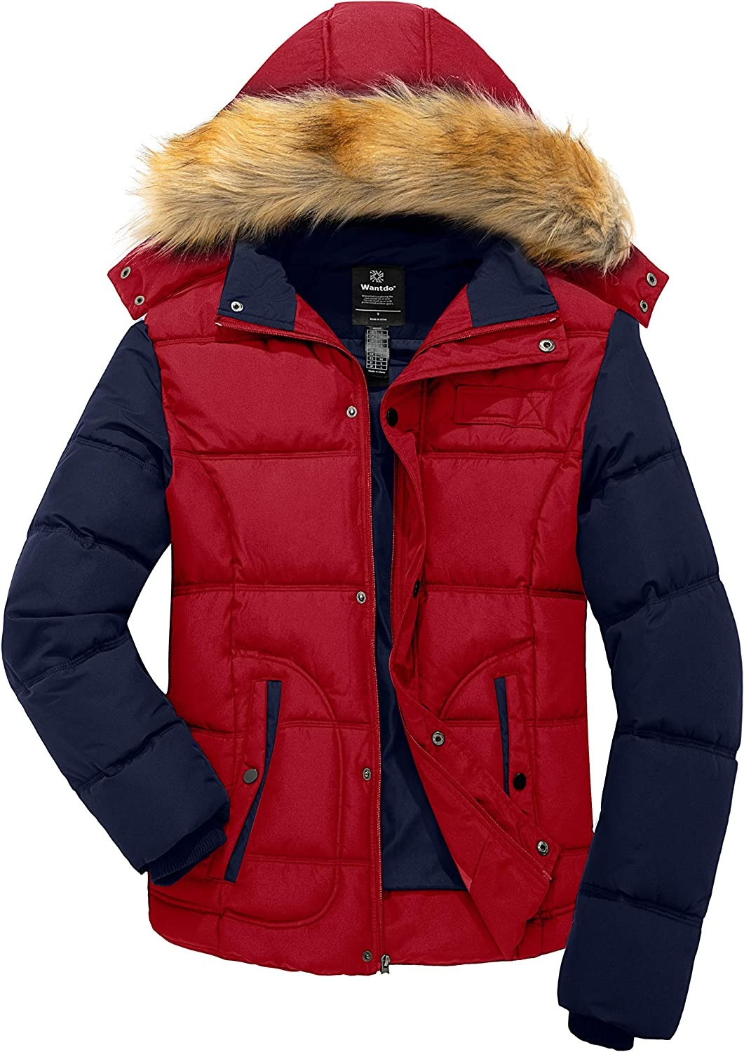 New MENS Waterproof  Puffer Padded Quilted Zipper Jacket Detachable Hooded Coat