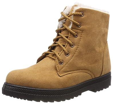804fd3406ed2 AARDIMI Heiße Frauen Stiefel Schnee Warme Winterstiefel Lace Up Pelz  Stiefeletten Damen Winterschuhe Frauen Schuhe (