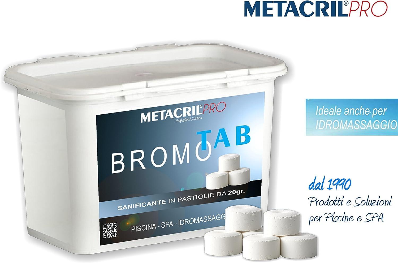 Bromo Tab 20–sanificante a base de bromo en tabletas de 20gr–conf. 1kg–Jacuzzi y spa Teuco, Jacuzzi, hafro, Glass, etc.-envío immediata
