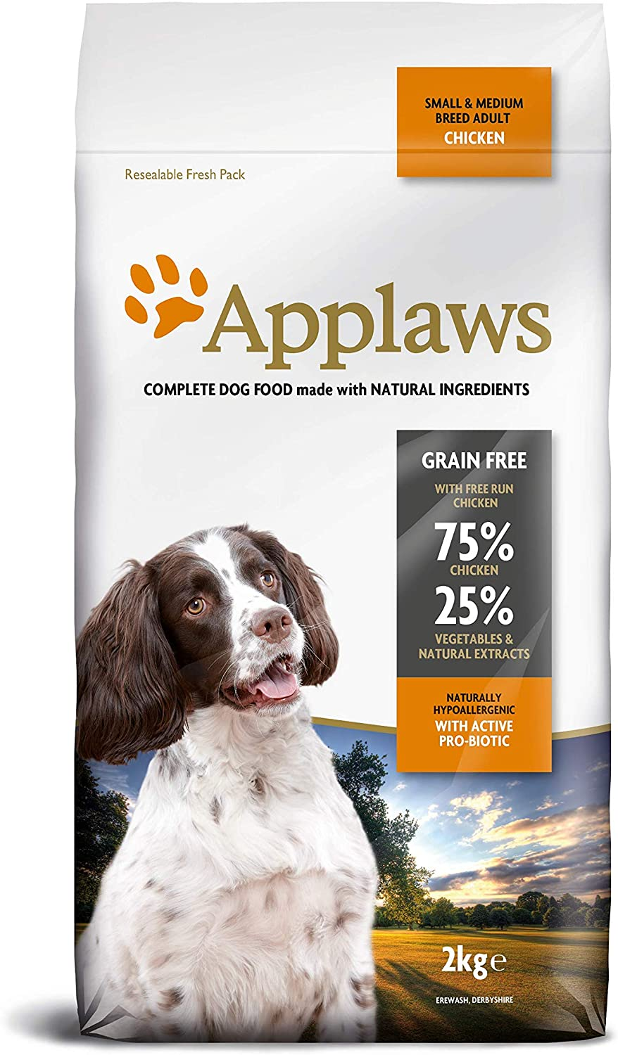 Applaws Dry Dog 2 kg Bag Chicken Small and Medium Breed